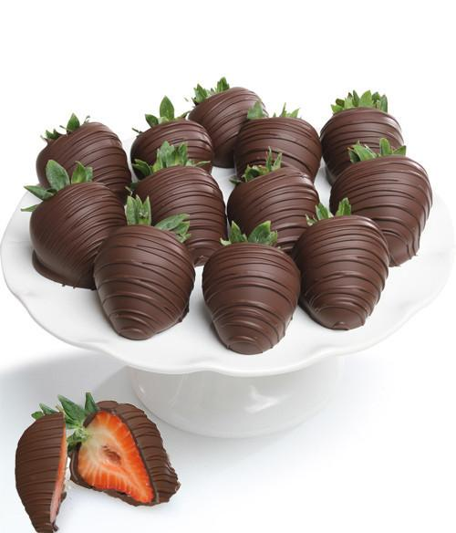 Belgian Dark Chocolate Covered Strawberries